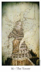 16 Аркан Башня Таро Путь Сновидений Dreaming Way Tarot