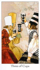 3 Кубков Таро Путь Сновидений Dreaming Way Tarot