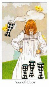 4 Кубков Таро Путь Сновидений Dreaming Way Tarot