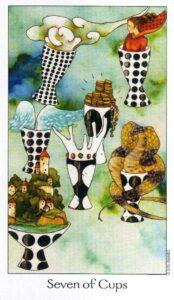 7 Кубков Таро Путь Сновидений Dreaming Way Tarot