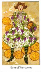 9 Пентаклей Таро Путь Сновидений Dreaming Way Tarot