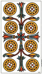 8 Монет Марсельское Таро Tarot de Marseille Convos