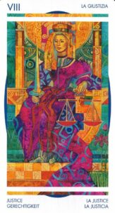 8 Справедливость Таро Мистика Витражей Crystal Tarot Elisabetta Trevisan